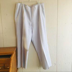 Pants - Powder blue colored linen pants